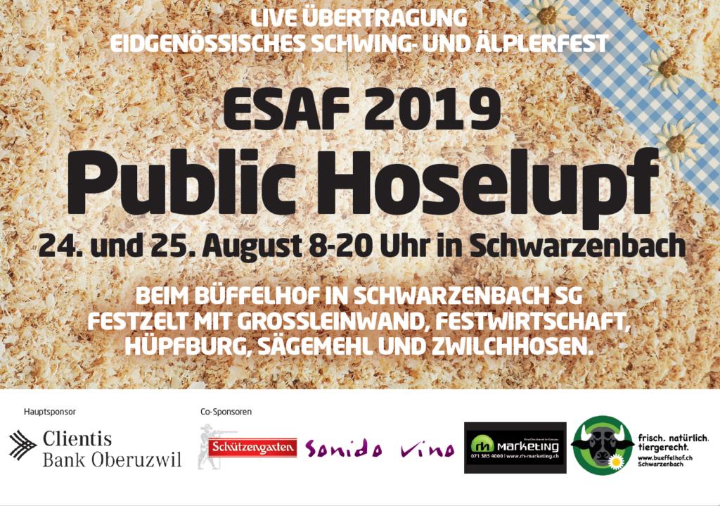Public Viewing Hoselupf ESAF 2019